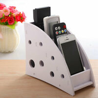 Phone/TV Remote Control Storage Box Home Desk Makeup Organizer Holder White AU