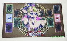 F734# Free Mat Bag Custom Yugioh Playmat Black Gagaga Magician Girl Card Zones