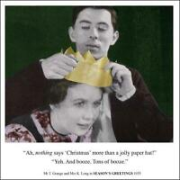 Tons Of Booze Funny Christmas Greeting Card Retro Humour Drama Queen Card