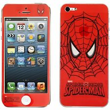 STICKER ADESIVO SPIDER MAN SPIDERMAN STYLE FRONTE RETRO PER IPHONE 5 5S SE