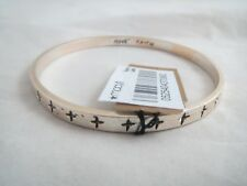 Rachel Roy silver & gold tone~cross bangle bracelet, NWT