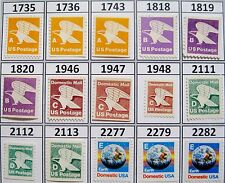 Complete Set All 15 Rate Change Stamps Series A B C D E MNH Scott's 1735 to 2282