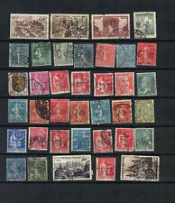 FRANCE  EUROPE  COLLECTION POSTAL USED PERFINS STAMP  LOT (FR 206   )