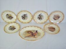 7pc Edwin Megargee Game Bird Platter & Plate Set Sebring China 1909-34 ESCO
