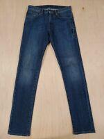 ■433 Belstaff Slim Fit Men's Blue Jeans 29x32 England 100% Cotton $425 Dark Wash