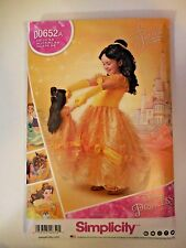 """Disney Beauty & the Beast Child & 18"""" Doll Pattern Costume Simplicity D0652 A"""