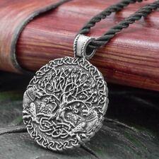 Wolf & Yggdrasil (Tree of Life) Pendant on Chord