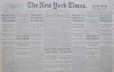 3-1932 March 24 DE VALERA BRITAIN WARNS IRISH OATH IS MANDATORY - FDR GEORGIA