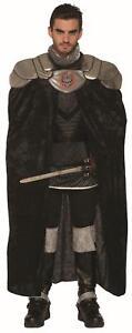 Dark Royalty Black Evil King Adult Medieval Costume Cape