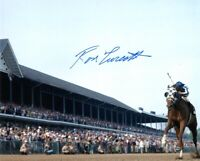 RON TURCOTTE SIGNED 8x10 PHOTO SECRETARIAT HORSE RACING JOCKEY RARE BECKETT BAS