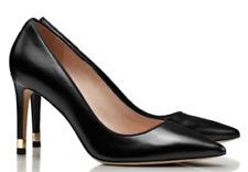 Tory Burch Greenwich Black Leather Pump Heels Size 8