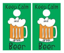 AUTOCOLLANT KEEP CALM AND DRINK BEER STICKER AUTO KA014
