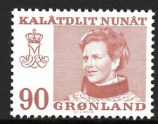 Greenland 1974 90 Ore Queen Margrethe II Mint Unhinged