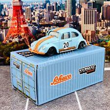 Tarmac Works x Schuco COLLAB64 1/64 Volkswagen Beetle  Blue/Orange Low Ride Heig