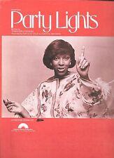 NATALIE COLE 1977 Sheet Music PARTY LIGHTS Tennyson Stephens