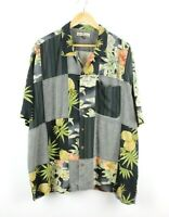 Tommy Bahama Mens 100% Silk Relaxed Fit Hawaiian Style Shirt - Size 2XL