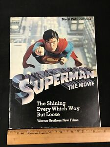 1978 SUPERMAN THE MOVIE CHRISTOPHER REEVES PROMO MAGAZINE RARE!!W/POSTER