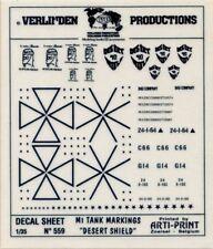 Verlinden Productions 1:35 M1 Tank Markings Desert Shield - Dry Transfer #559