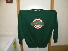 MIAMI HURRICANS MIDWEST EMBROIDERY XL GREEN SWEATSHIRT OFFICIAL NCAA NOS NWT