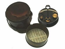 c1914 H Hughes & Son military pocket sextant and case CLT13
