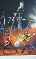"""RONNIE WOOD """" Twang """" + Keith and Charlie HAND SIGNED ROLLING STONES Screenprint"""