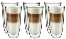 More details for double walled insulated glasses thermal coffee glass mug heat resistant 6pk