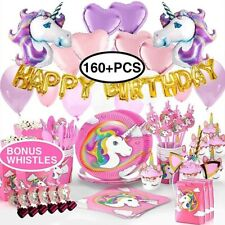 Unicorn Party Supplies Set/ Birthday Decorations Unicorn Balloons, And More