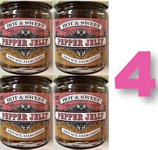 4 Trader Joe's Pepper Jelly Hot & Sweet Free Shipping Marmalade Jam Preserve Lot