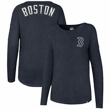 MLB Boston Red Sox 47 Club Courtside LS T Shirt Top Womens