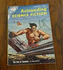 Astounding Science Fiction November 1954 The End of the Summer by Algis Budrys