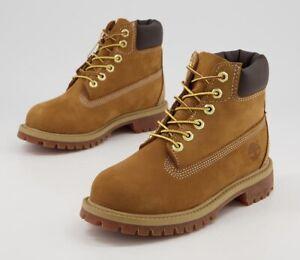 Timberland 6 Inch Premium Waterproof Boots Wheat Juniors kids children size 2