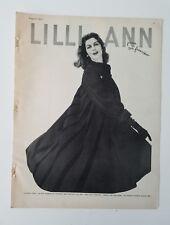 1957 Lilli Ann women's black luxury coat two way collar vintage fashion ad