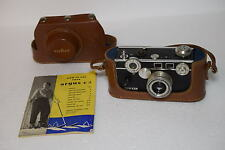 Vintage ARGUS C3 Black Camera with F/3.5 50mm Lens with Case & Owner's Manual