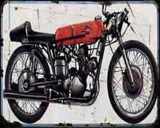 Gilera 125 1956 A4 Metal Sign Motorbike Vintage Aged