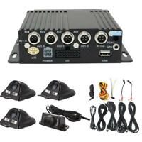 27Pcs 4ch  Panoramic Vehicle Car Mobile DVR Security Video Recorder SD+4 CCD Cam