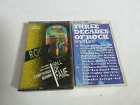 Classic Rock N Roll Cassettes Hall of Fame + Decades of Rock 60s 70s 80s (B1)
