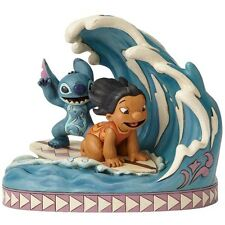 Disney Traditions Lilo and Stitch 15th Anniversary Catch the Wave Statue New