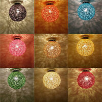 NEW~Vine Rattan Colorful Ceiling Lamp Light Shade Home Restaurant Cafe Lampshade