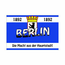 Fahne Flagge Berlin ca. 90 x 150 cm - Die Macht aus der Hauptstadt - Fanflagge
