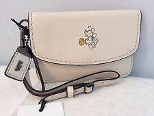 Disney x Coach MICKEY Envelope Key Pouch in White Glovetanned Leather ~ 66146