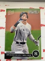2020 TOPPS NOW AL WILD CARD CARD NEW YORK YANKEES AARON JUDGE #331 1st 2-RUN HR