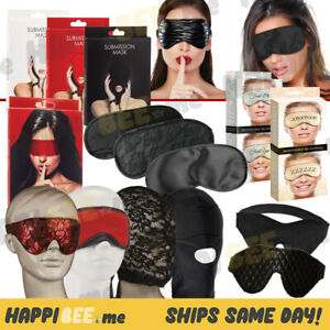 S&M Eye Mask Blindfold🍯Men+Women+Couple Face Soft Satin Lace Love Sex Roleplay