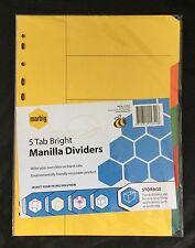 BN Marbig A4 Manilla 5 Tab Bright Dividers