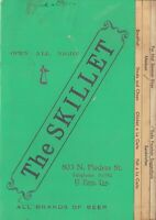 Vintage THE SKILLET Restaurant Menu, El Paso, Texas