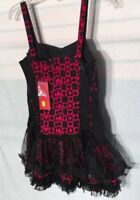 78b1a85658 Tripp NYC Dress Medium Red Black Leopard Print Hot Topic burning man ...