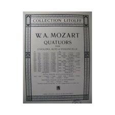 MOZART W. A. Quatuor No 6 F dur Violon Alto Violoncelle partition sheet music sc