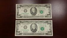 Lot of 2 Two Old $20 US Notes Bills ( 1993 & 1995 ) $40.00 Face Value