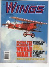 Wings Airplane Magazine June 2001 Flying Planes  World War 1 Lafayette