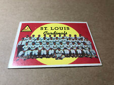 1959 Topps Baseball Card #223, Cardinals Team, Very Good-Excellent Condition