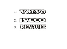 Sticker, aufkleber, decal - VOLVO IVECO RENAULT 50 70 100 cm